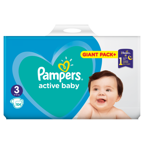 Pampers Active Dry pelene GPP 3 (6-10kg)