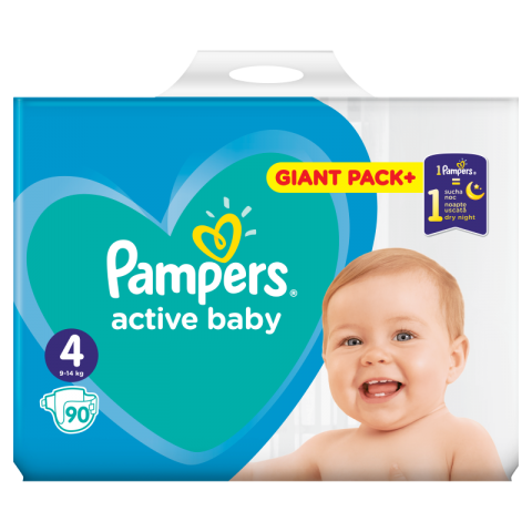 Pampers Active Dry pelene GPP 4 (9-14kg)