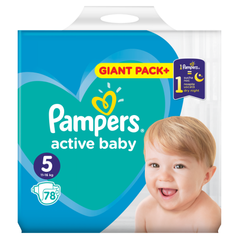Pampers Active Dry pelene GPP 5 (11-16kg)