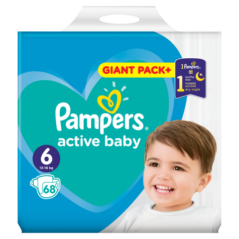 Pampers Active Dry pelene GPP 6 (13-18kg)