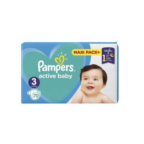 Pampers Active Dry pelene JPM 3 (6-10kg)