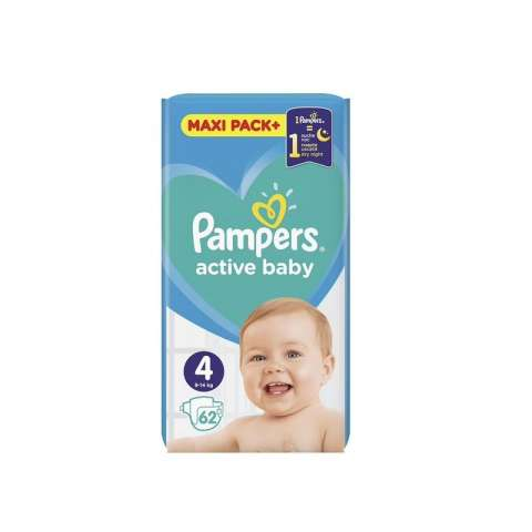 Pampers Active Dry pelene JPM 4 (9-14kg)