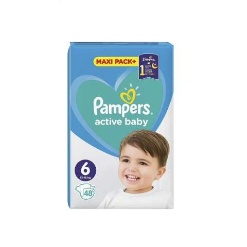 Pampers Active Dry pelene JPM 6 (13-18kg)