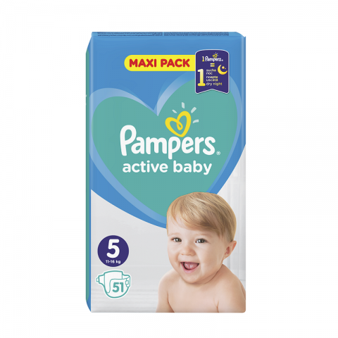 Pampers Active Dry pelene VP 5 (11-16kg)