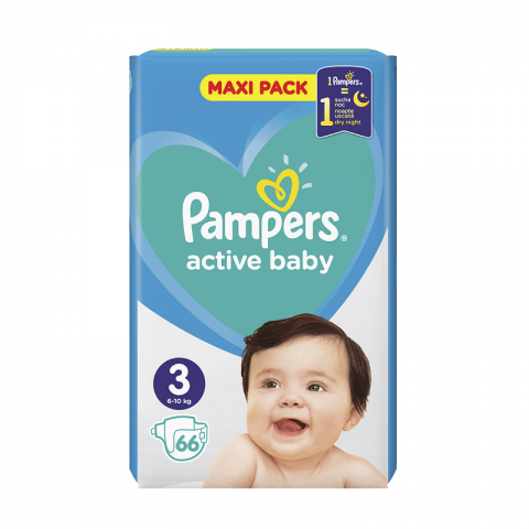 Pampers Active Dry pelene VP 3 (6-10kg)