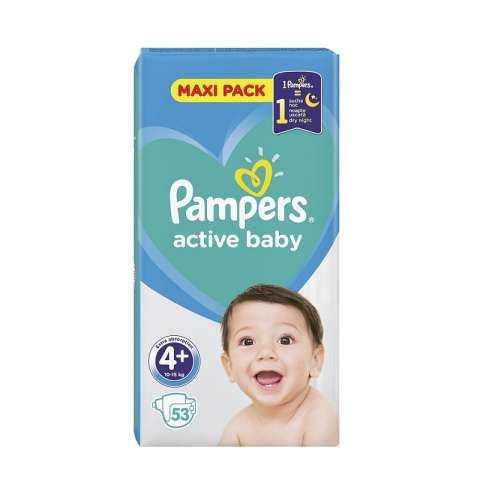 Pampers Active Dry pelene VP 4+ (10-15kg)