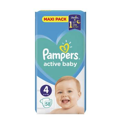 Pampers Active Dry pelene VP 4 (9-14kg)